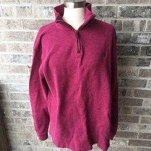 POLO RALPH LAUREN Men's Quarter Zip Knit Sweater L